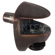 COBRA Полкодержатель для стеклянных полок толщиной 5-6 мм, со штоком, бронза