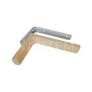 CORNER Менсолодержатель для деревянных полок с декоративной накладкой L-240 мм, бежевый (2 шт.)