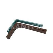 CORNER Менсолодержатель для деревянных полок с декоративной накладкой L-120 мм, коричневый (2 шт.)