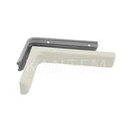 CORNER Менсолодержатель для деревянных полок с декоративной накладкой L-180 мм, белый (2 шт.)