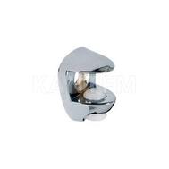 Полкодержатель для стеклянных полок толщиной 8-10 мм, под саморез, хром