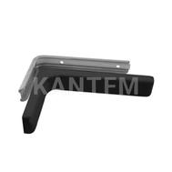 CORNER Менсолодержатель для деревянных полок с декоративной накладкой L-180 мм, черный (2 шт.)