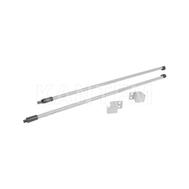 M-TECH комплект круглых рейлингов с фиксаторами, 450 мм, серый металлик
