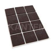 Подпятник самоклеящийся квадратный 30X30мм, коричневый, 12 шт.