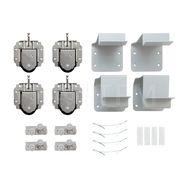 PRIDE комплект роликов и аксессуаров на 2 двери (ролики, стопоры, кронштейны)