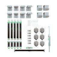 PRIDE комплект роликов, аксессуаров и доводчиков на 3 двери (ролики, кронштейны, доводчики, активаторы)