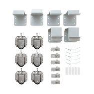 PRIDE комплект роликов и аксессуаров на 3 двери (ролики, стопоры, кронштейны)