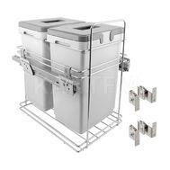 ROUND Система для утилизации мусора (2 ведра по 24 литра), направл. плавн. закр. Nova Pro