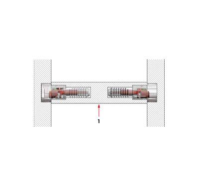 SECRET Скрытый полкодержатель для деревянных полок толщиной от 25 мм с фиксацией