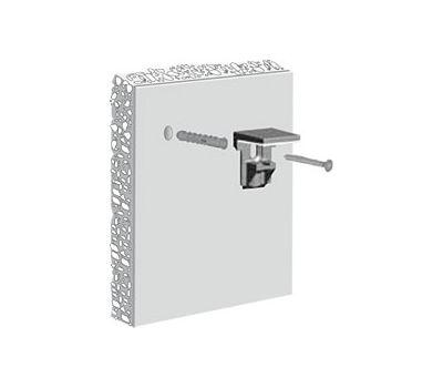 KALABRONE MINI Менсолодержатель для стеклянных полок 5 - 10 мм, белый матовый