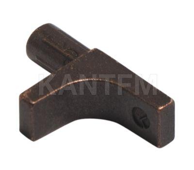 K-LINE Полкодержатель с дополнительным упором для деревянных полок без фиксации, бронза