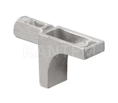 K-LINE Полкодержатель с дополнительным упором для деревянных полок без фиксации, никель