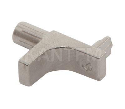 K-LINE Полкодержатель с дополнительным упором для деревянных полок c фиксацией, никель
