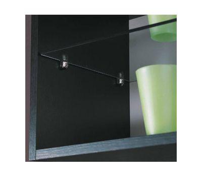 PEKI Полкодержатель с фиксатором для стеклянных полок толщиной 4-10 мм, никель