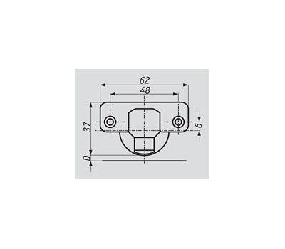 Петля HARMONY без амортизатора стандартная (90/105) накладная
