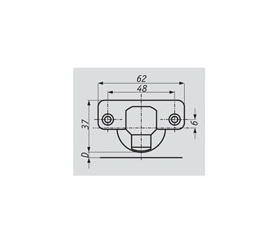 Петля HARMONY с амортизатором прямая (180/95)