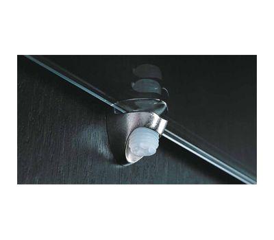 COBRA Полкодержатель для стеклянных полок толщиной 8-10 мм, со штоком, никель