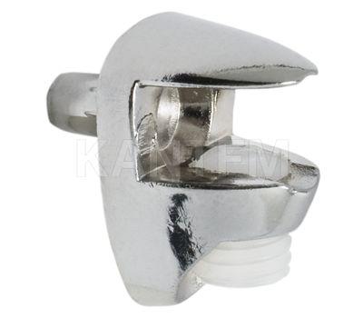 Полкодержатель для стеклянных полок толщиной 5-6 мм, со штоком, хром