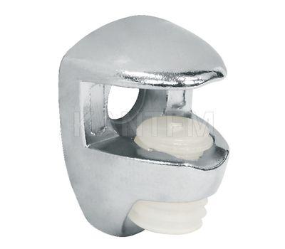 Полкодержатель для стеклянных полок толщиной 5-6 мм, под саморез, хром