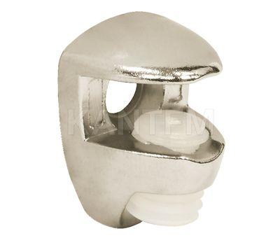Полкодержатель для стеклянных полок толщиной 5-6 мм, под саморез, никель
