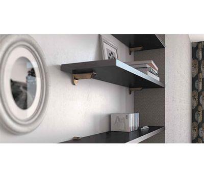 KAIMAN Менсолодержатель для деревянных и стеклянных полок 7 - 41 мм, хром матовый (2 шт.)