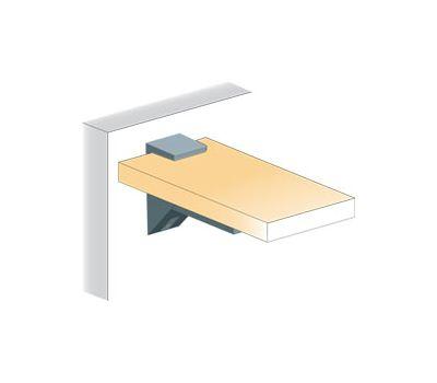 KALABRONE Менсолодержатель для деревянных и стеклянных полок 8 - 30 мм, хром (2 шт.)