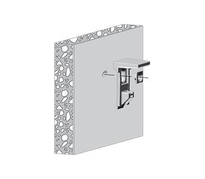 KALABRONE Менсолодержатель для деревянных и стеклянных полок 8 - 30 мм, белый (2 шт.)