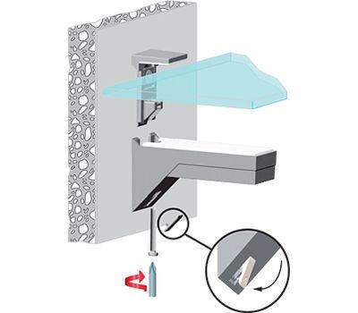 KALABRONE Менсолодержатель для деревянных и стеклянных полок 8 - 30 мм, черный матовый (2 шт.)