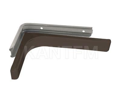 CORNER Менсолодержатель для деревянных полок с декоративной накладкой L-240 мм, коричневый (2 шт.)
