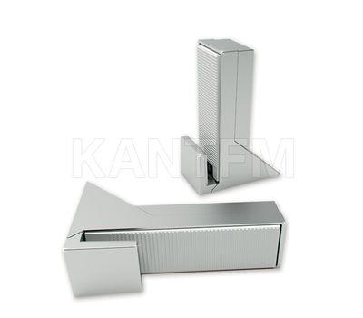 KALABRONE Менсолодержатель для деревянных и стеклянных полок 8 - 30 мм, нерж. сталь (2 шт.)