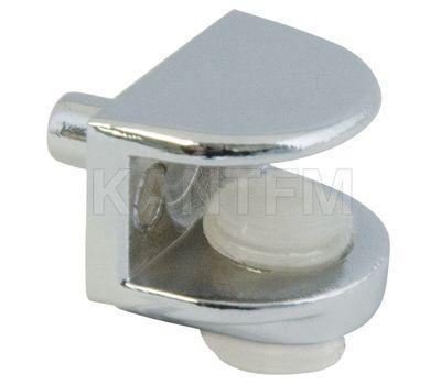 Полкодержатель для стеклянных полок толщиной 5-8 мм, со штоком, хром