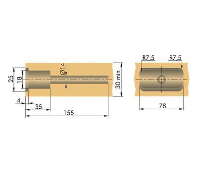 TRIADE Скрытый менсолодержатель для деревянных полок толщиной от 30 мм