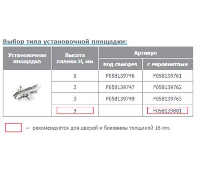 Петля TIOMOS без пружины стандартная (90/110) накладная