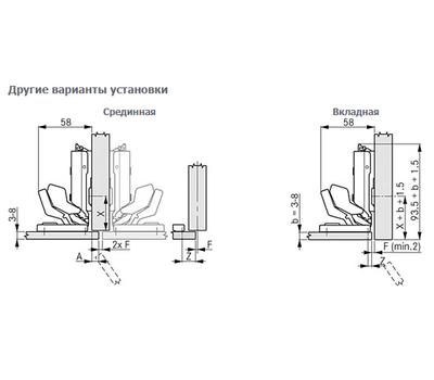 Петля TIOMOS MIRRO для стекла под клей со встроенным амортизатором (90/125) накладная