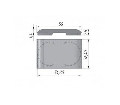 LIBRA CC3 Заглушка для навесов D30, пластик, серая