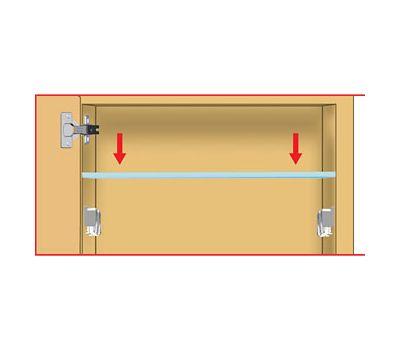 KUBIC Полкодержатель для стеклянных полок толщиной 4-9 мм, со штоком, никель