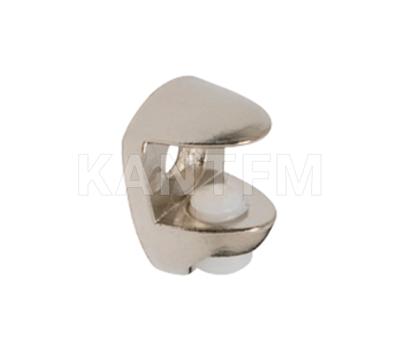 Полкодержатель для стеклянных полок толщиной 8-10 мм, под саморез, никель
