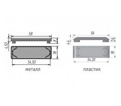 LIBRA CC2 Заглушка для навесов D12, пластик, серая