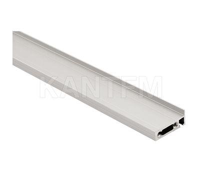 EXIT Профиль заглушки кабель-канала, хром матовый, L-1800
