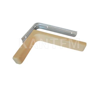 CORNER Менсолодержатель для деревянных полок с декоративной накладкой L-120 мм, бежевый (2 шт.)