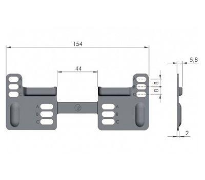 LIBRA WP2 Планка для навесов с вертикальной регулировкой, сталь