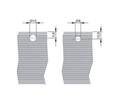 LIBRA H7 Алюминиевый профиль для навеса, длина 796 мм