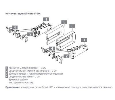 Kinvaro F-20 Складной подъемный механизм (тип 4B) без заглушек