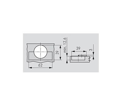 Петля TIOMOS со встроенным амортизатором стандартная (90/95) накладная, для фасадов толщиной до 28 мм