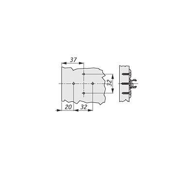 Крестовая ответная планка ECO TIOMOS /саморез (2 мм)
