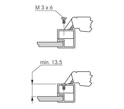 Винт для петель TIOMOS для узкого рамочного профиля, никелированный, M3x6