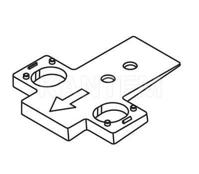 Площадка для изменения угла установки петли TIOMOS -5 грд.