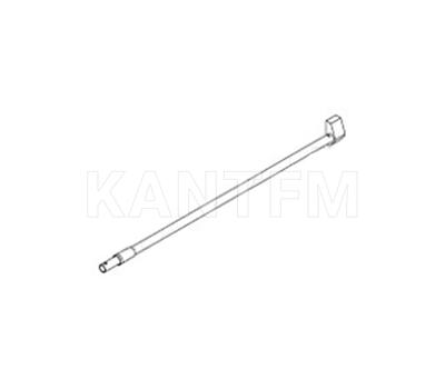 DWD XP Круглый рейлинг, серый металлик, 400 мм (правый)