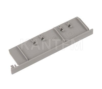 NOVA PRO DELUXE Заглушка торцевая фасада F8 внутреннего ящика h=90 мм, серый металлик