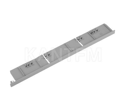 NOVA PRO DELUXE Заглушка торцевая фасада F8 внутреннего ящика h=186 мм, серый металлик